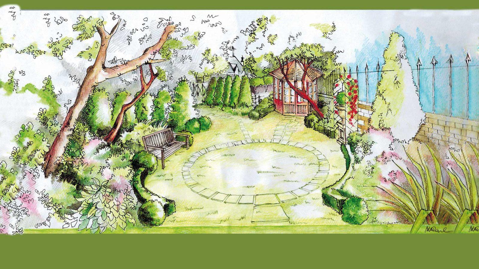 disegno artistico giardino
